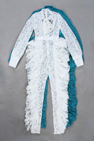 Angelique Blue Lace Jumpsuit