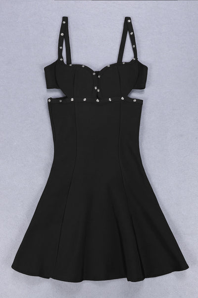 Rosario Black Bandage Dress