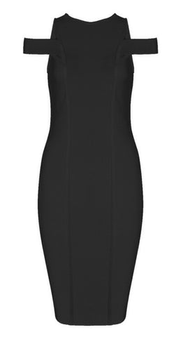 Shelby Black Bandage Dress