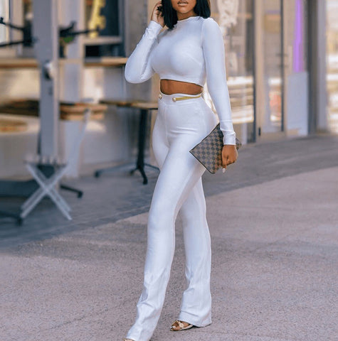 Bellamy White Long Sleeve Two Piece Set