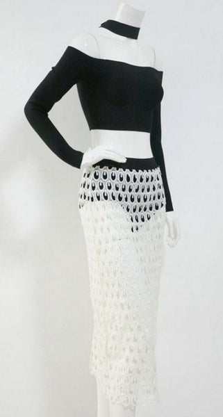 Rayan Black & White Two Piece