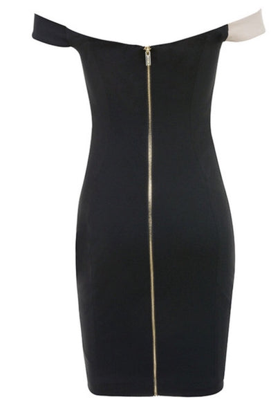 Venus Two Tone Bandage Dress