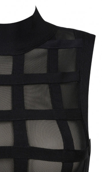 Faith Black Two Piece Bandage Dress