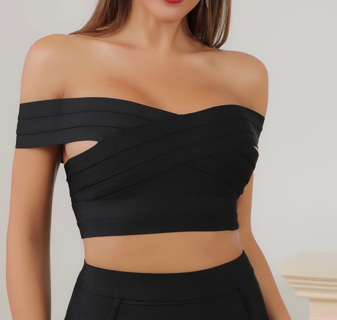 Willa Off Shoulder Crop Top