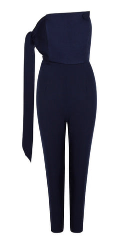 Caitlin Blue Asymmetric Jumpsuit