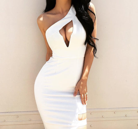Bongi White Bandage Dress