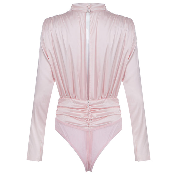 clothing store, pink top, bodysuit long sleeve