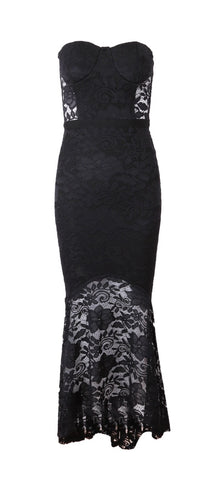 Becky Black Lace Midi Dress
