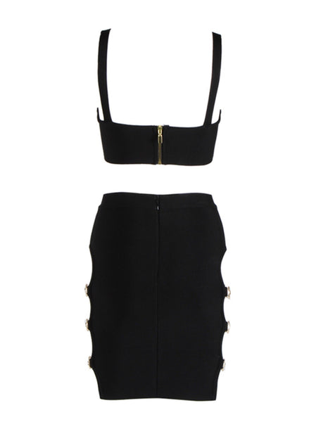 Verena Black Two Piece Set