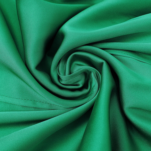 Journee Long Sleeve Green Satin Dress