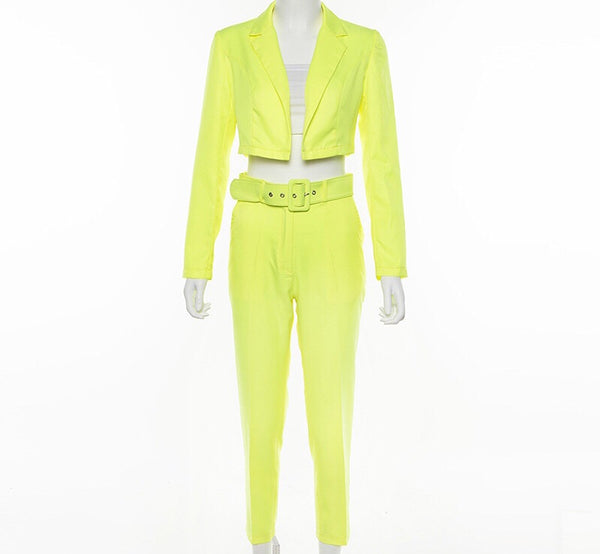 Amora Green Two Piece Suit Set