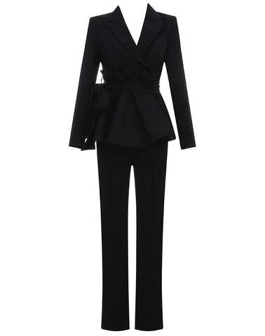 Felicity Black Two Piece Suit Set