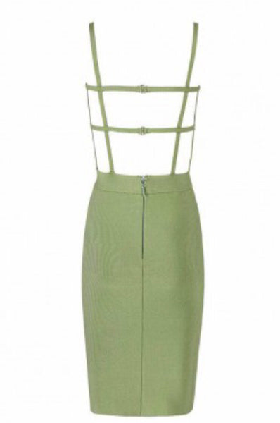 Julie Green Backless Mini Bandage Dress