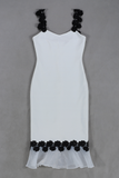 Celeste Black and White Bandage Dress