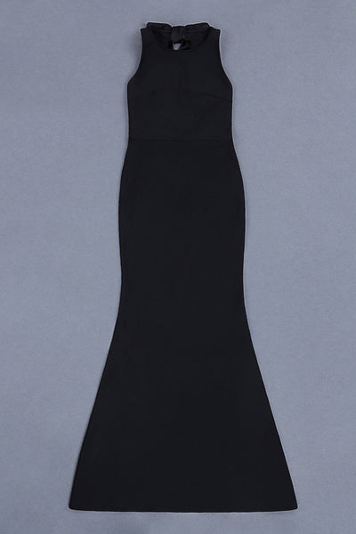 Gretel Black Maxi Sleeveless Dress