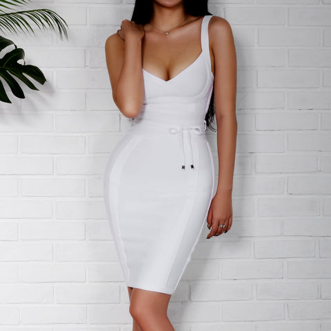 Judine White Bandage Dress