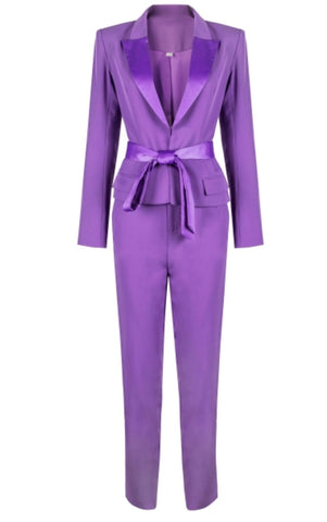 Kateryna Purple Two Piece Suit