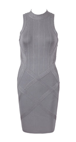 Irina Gray Bandage Dress