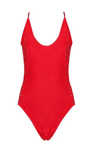 Joy Red One Piece Swimsuit