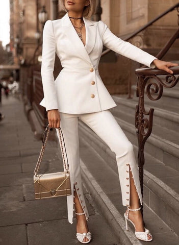 Bernyce White Suit Set