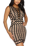 Ariane Mini Lace Up Bandage Dress