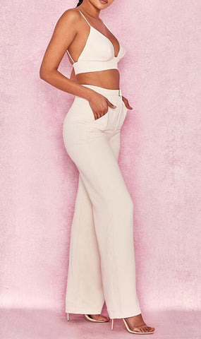 Kourtney Two Piece Crop Top With Pant