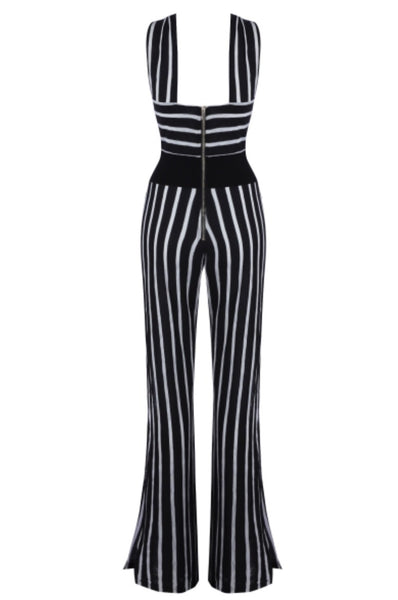 Jade Black White Jumpsuit with Jacket