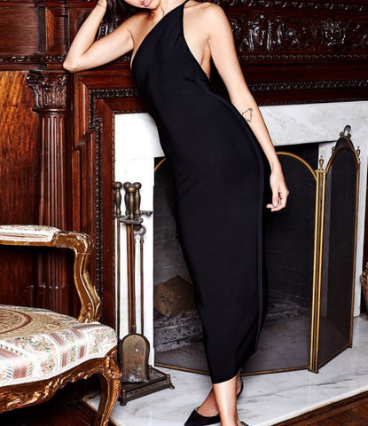Alicja Black One Strap Midi Bandage Dress