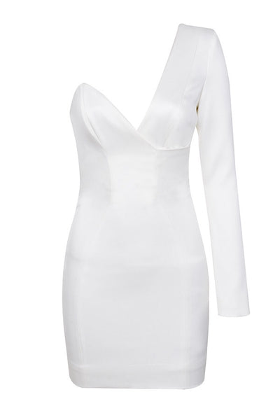 Layla White One Shoulder Mini Dress