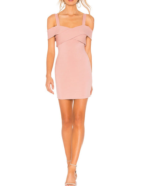 Joni Off Shoulder Strap Mini Bandage Dress