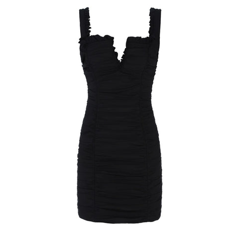 Janet Black Spaghetti Strap Mini Dress