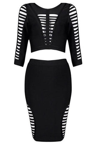 Jenna Black Two-Piece Bandage Dress