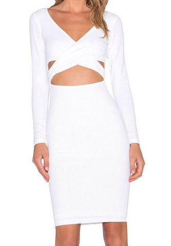 Jody White Bandage Dress