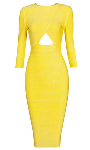 Joseline Yellow Bandage Dress