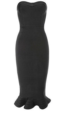 Karen Black Mermiad Strapless Dress