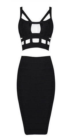 Khloe Cutout Two Piece Bandage Dress