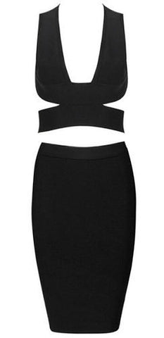 Layla Black Two Piece Bandage Dress