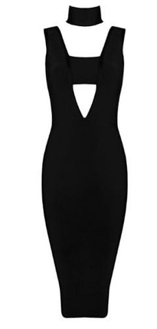 Leah Black Bandage Dress
