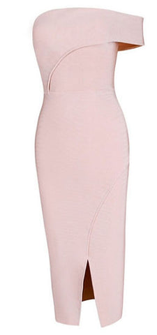 London Light Pink Bandage Dress