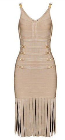 Mel Beige Bandage Dress