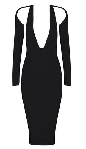 Molly Black Cutout Bandage dress