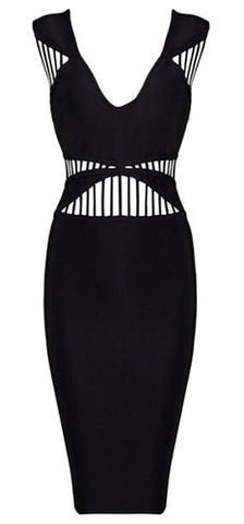 Penelope Black Bangade Dress