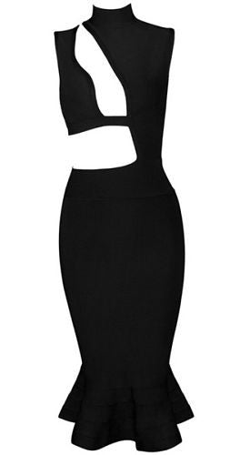 Piper Black Bandage Dress