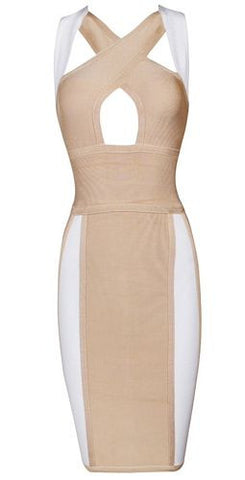 Rosa Peek-A-Boo Bust Bandage Dress