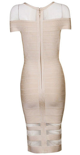 Sarah Beige Bandage Dress