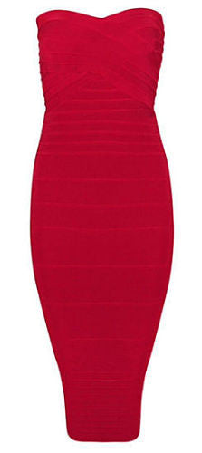 Savannah Red Strapless Dress