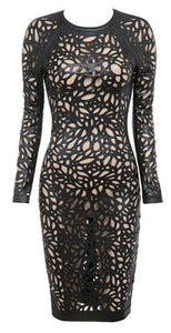 Shari Black Cutout Dress
