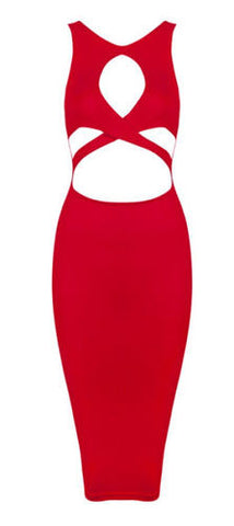 Simone Cutout Bandage Dress