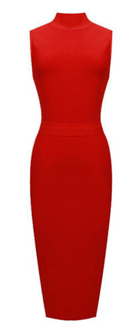 Terra High Neck Bandage Dress