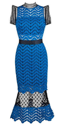Toni Blue Lace Dress